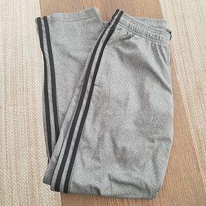 Grey/black adidas track pants